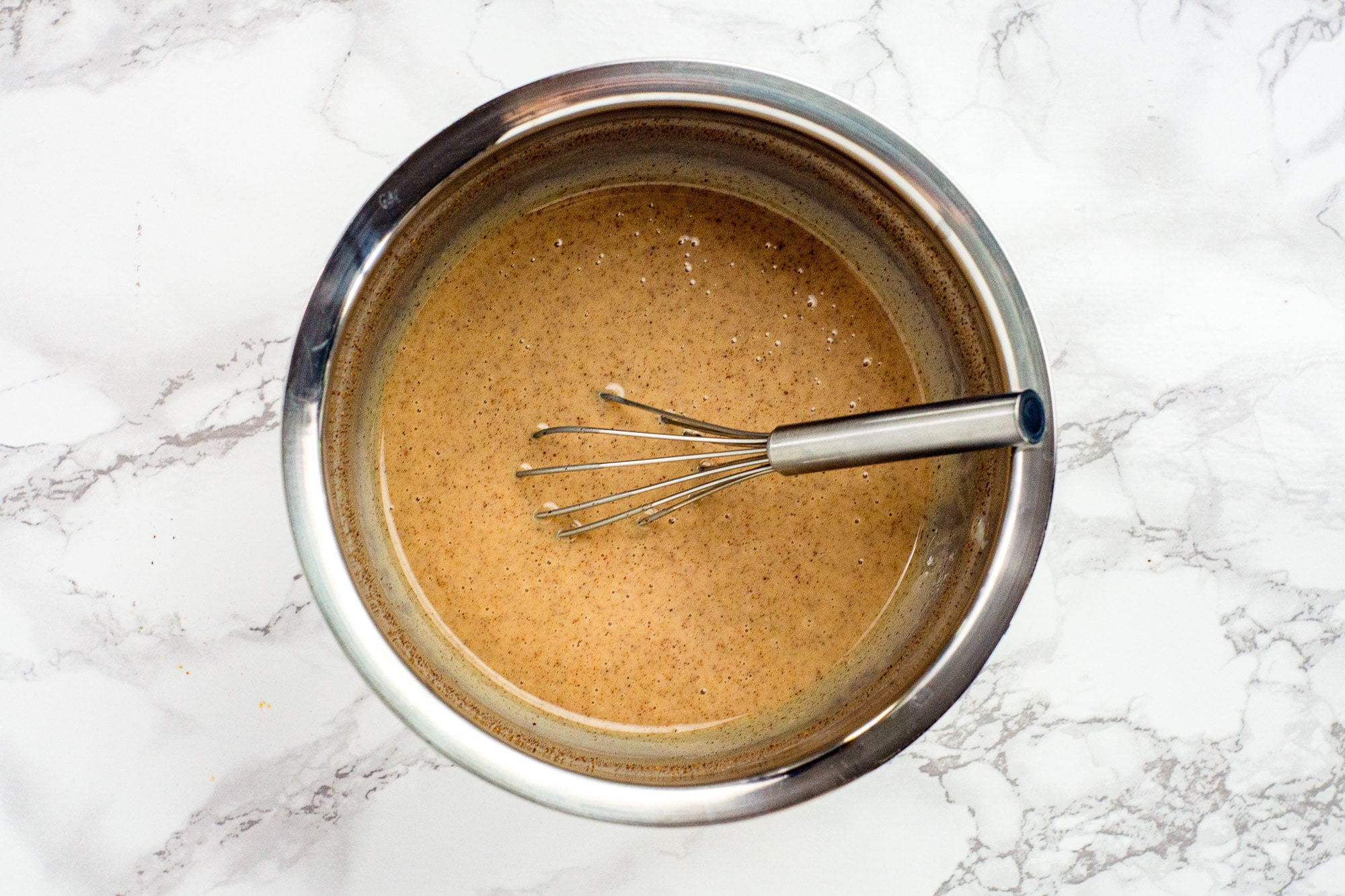 mixing cookie bar dough