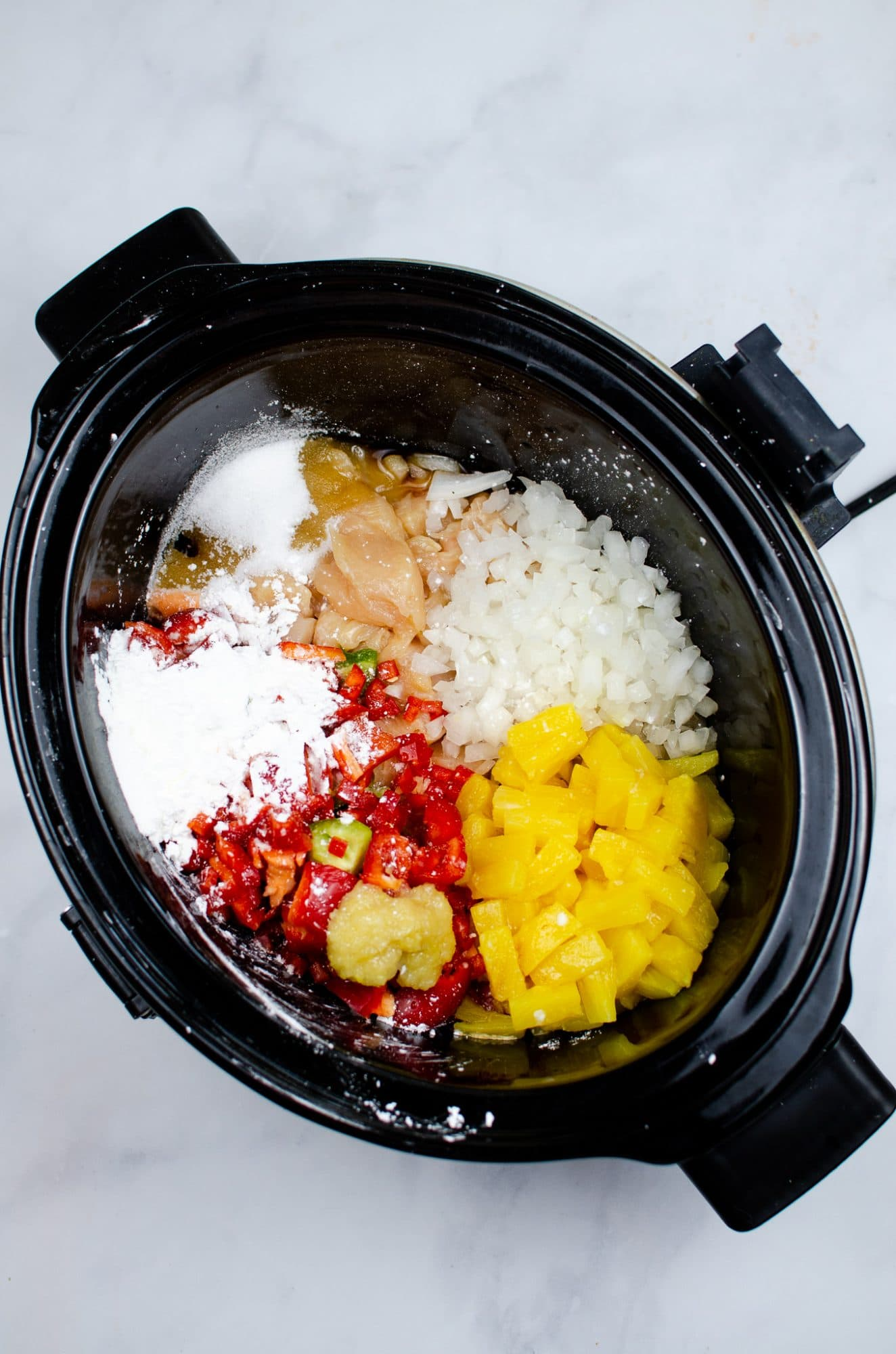 sweet and sour ingredients in crockpot