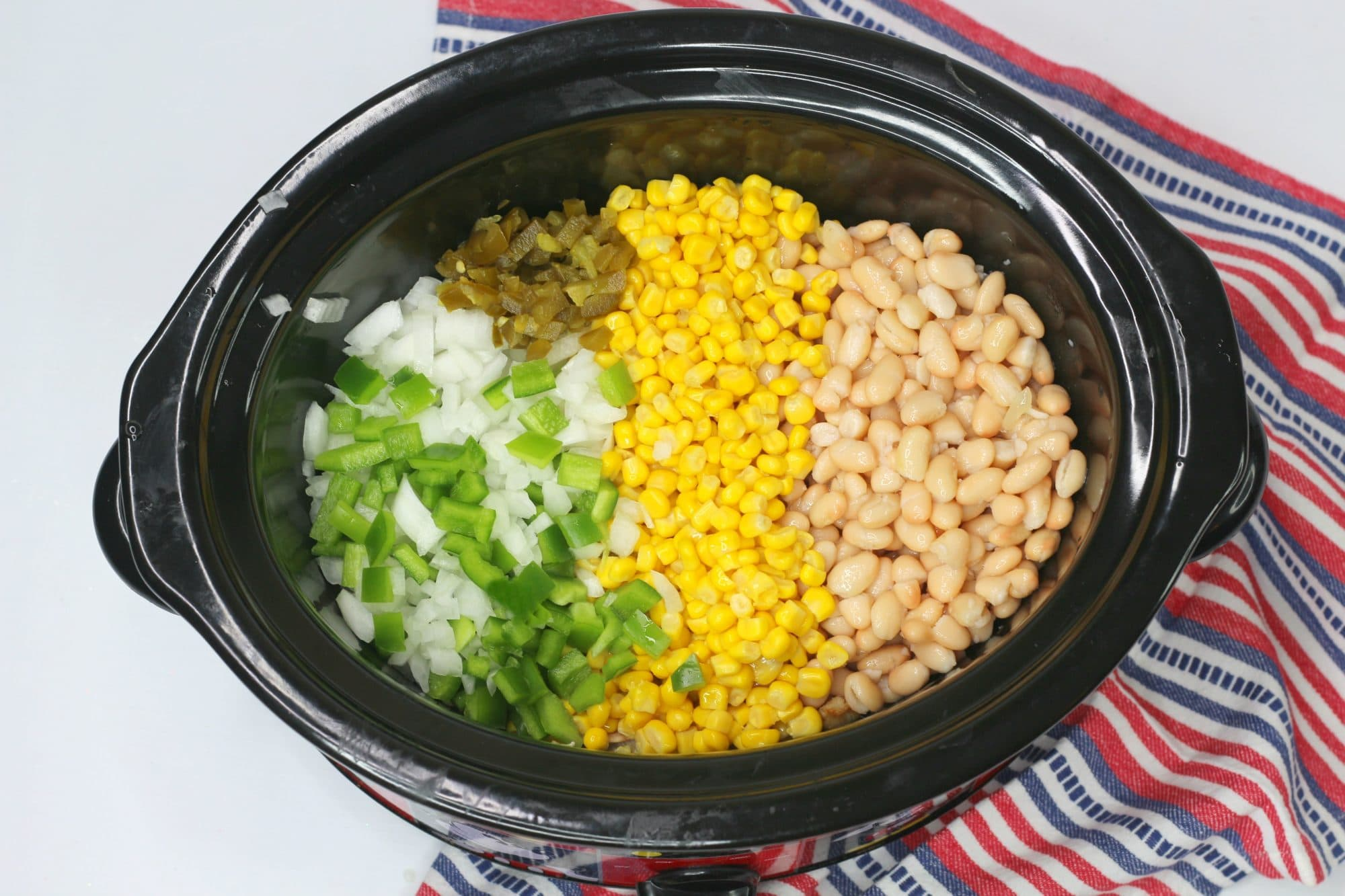 ingredients for cowboy casserole in slow cooker
