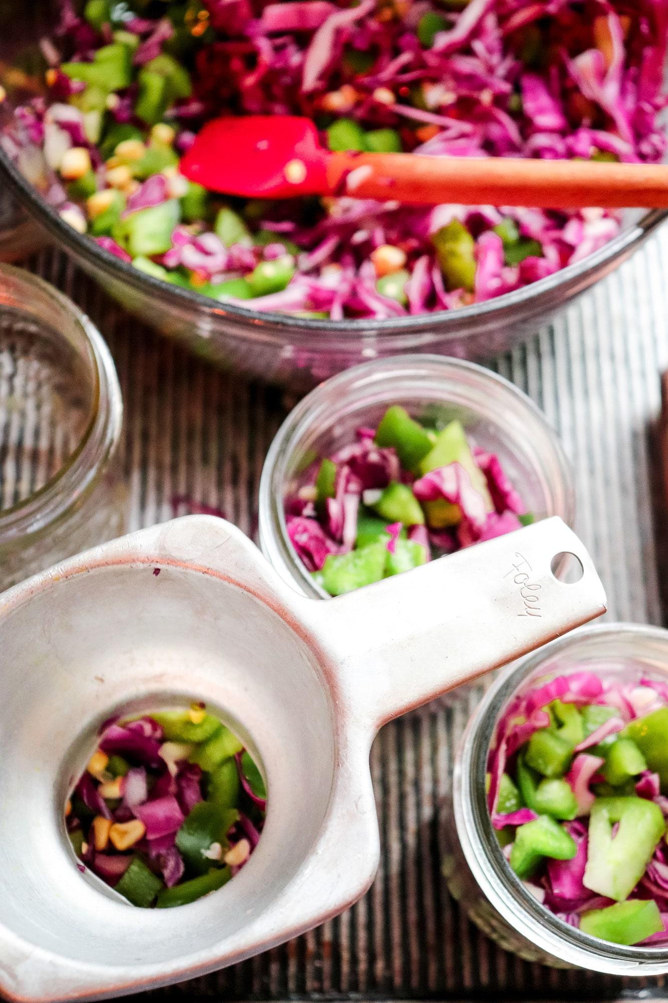 brining vegetables in jars