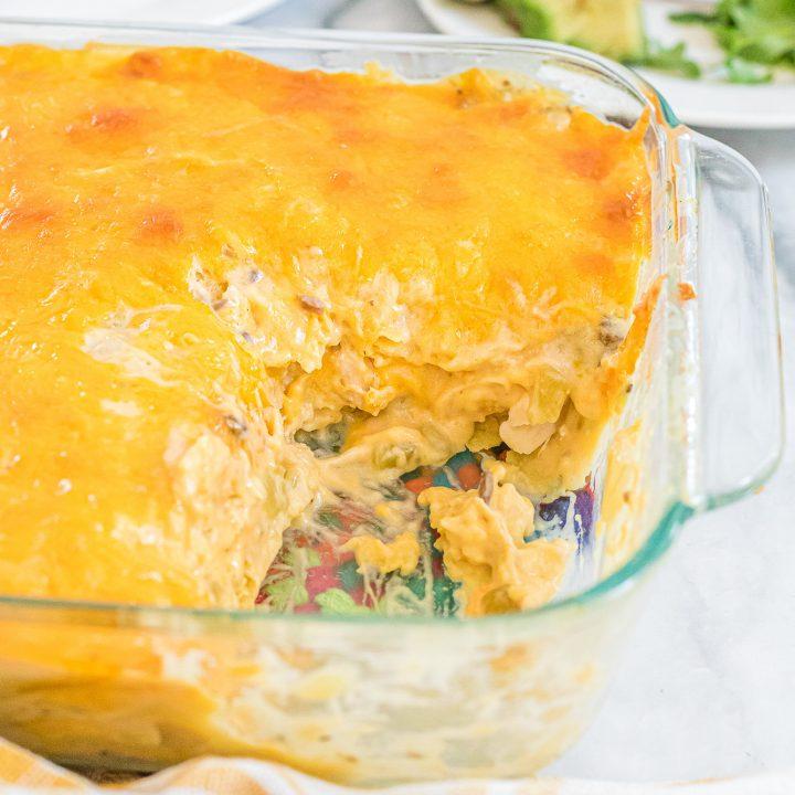 Rotisserie Chicken Enchilada Casserole