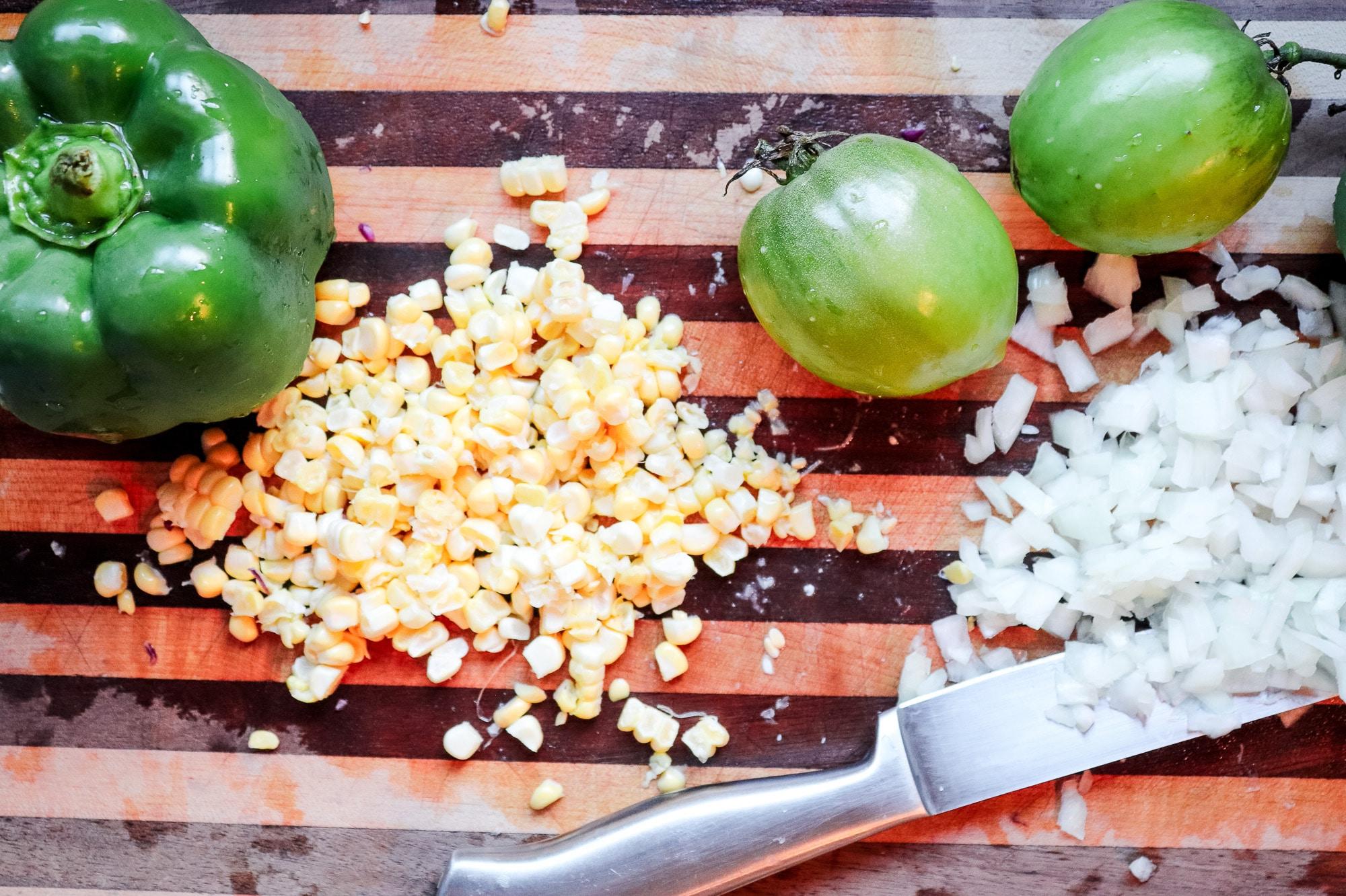 chopped corn