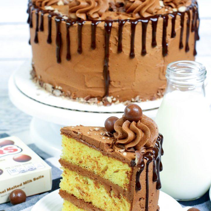 slice of whopper cake on white plate