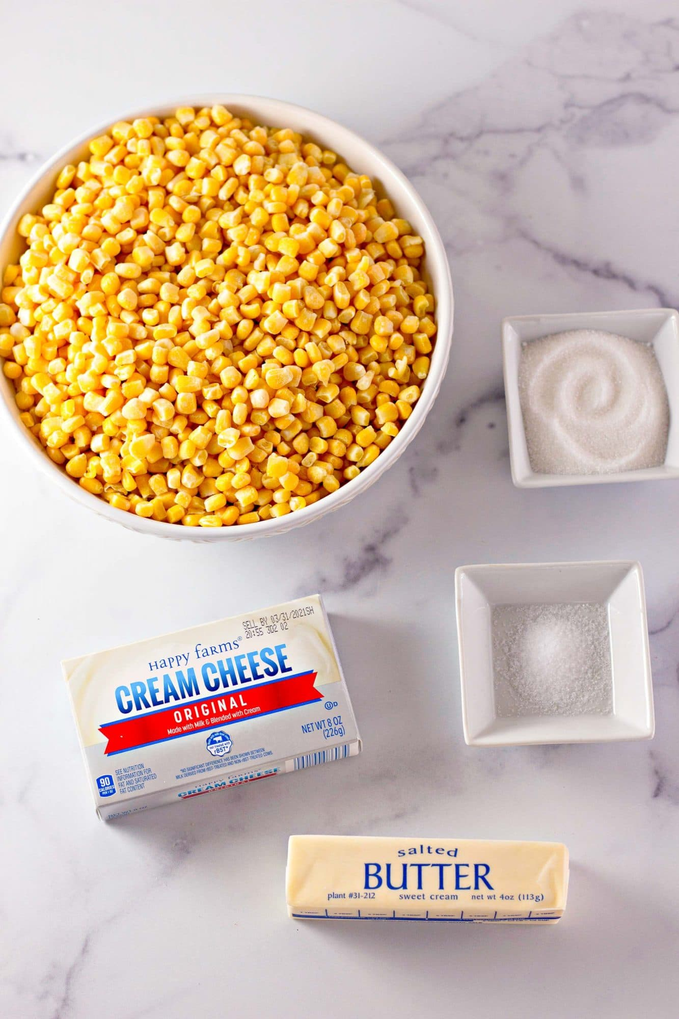 ingredients for creamed corn