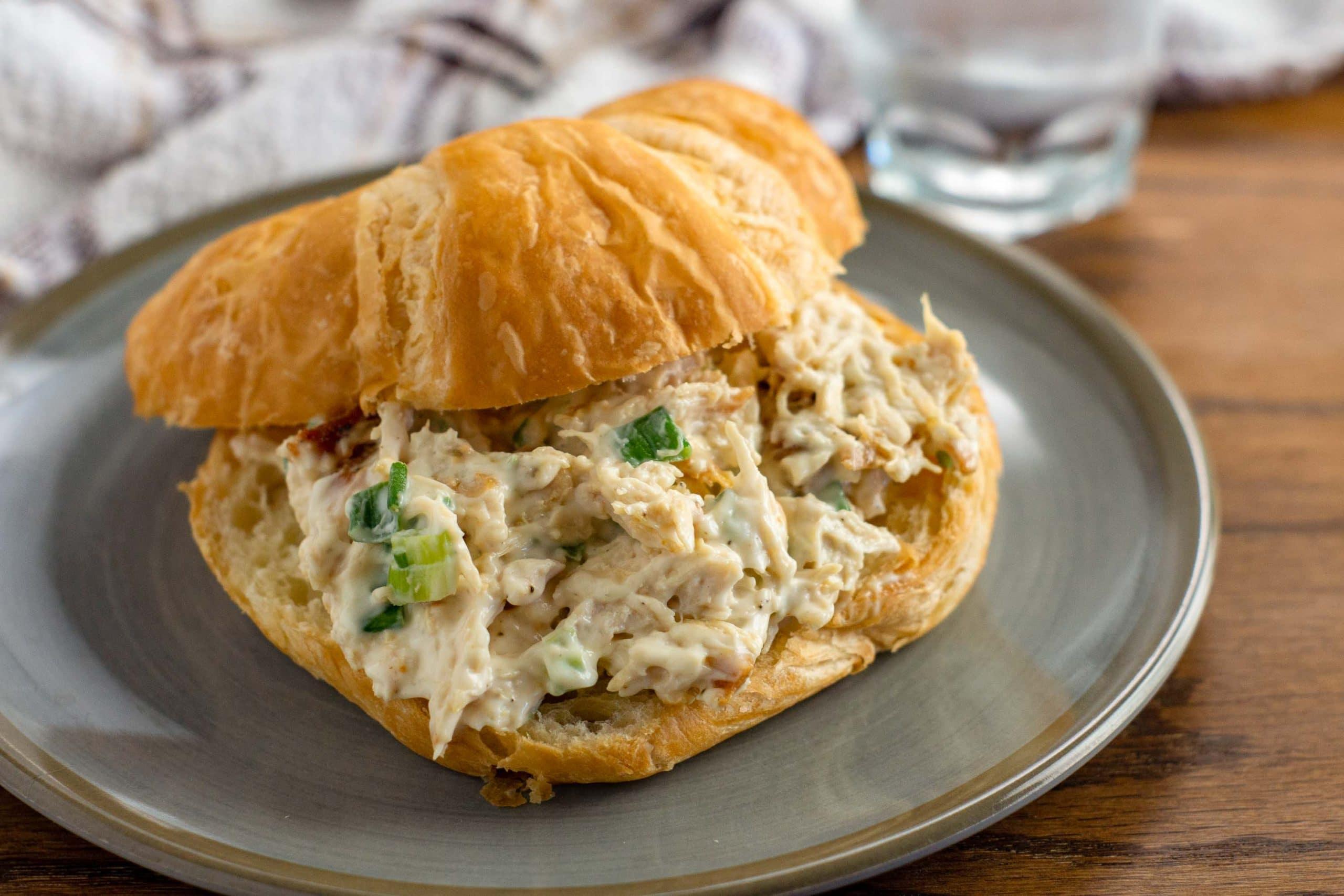 chicken sandwich on plate
