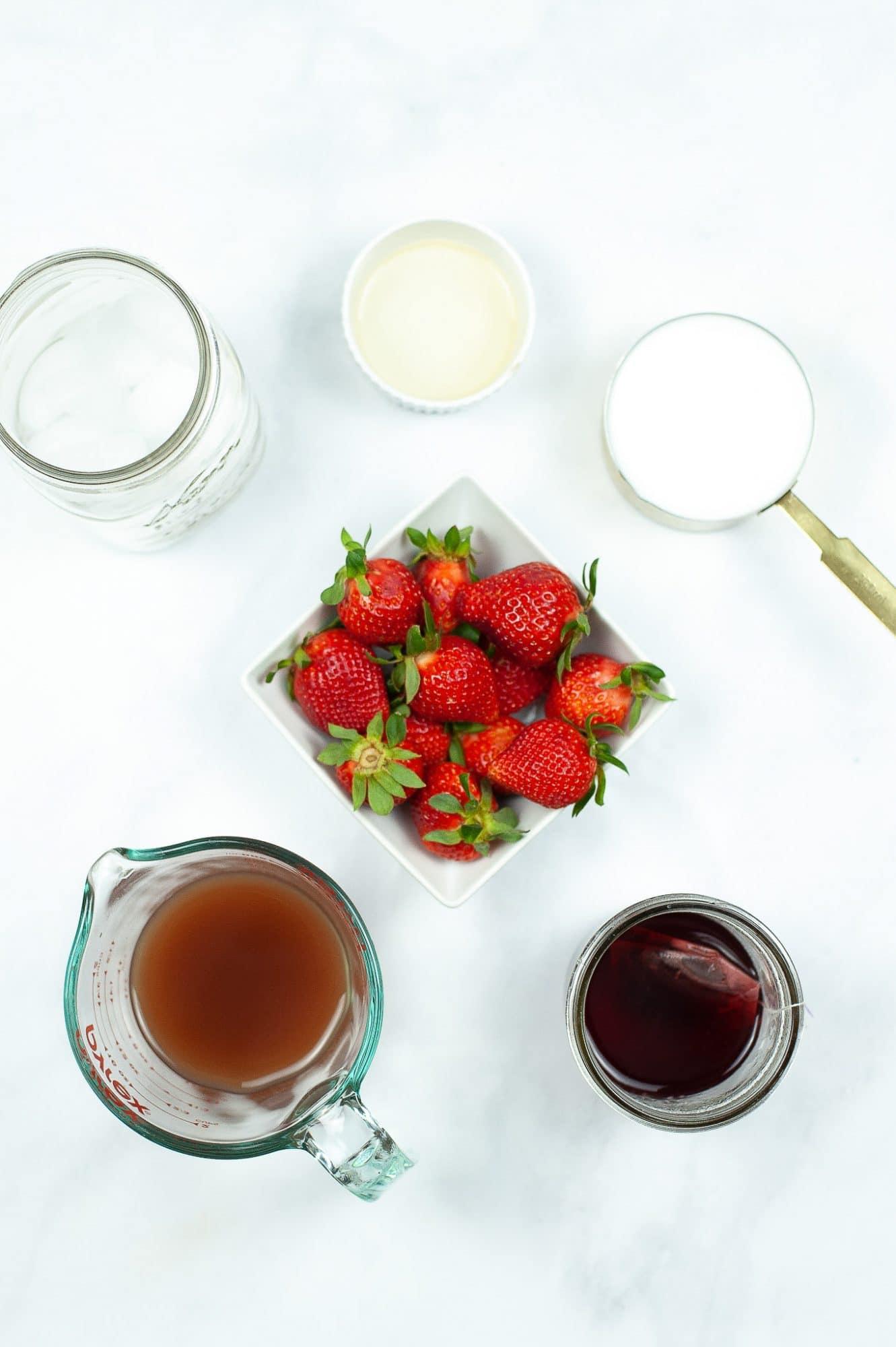 ingredients for starbucks pink drink