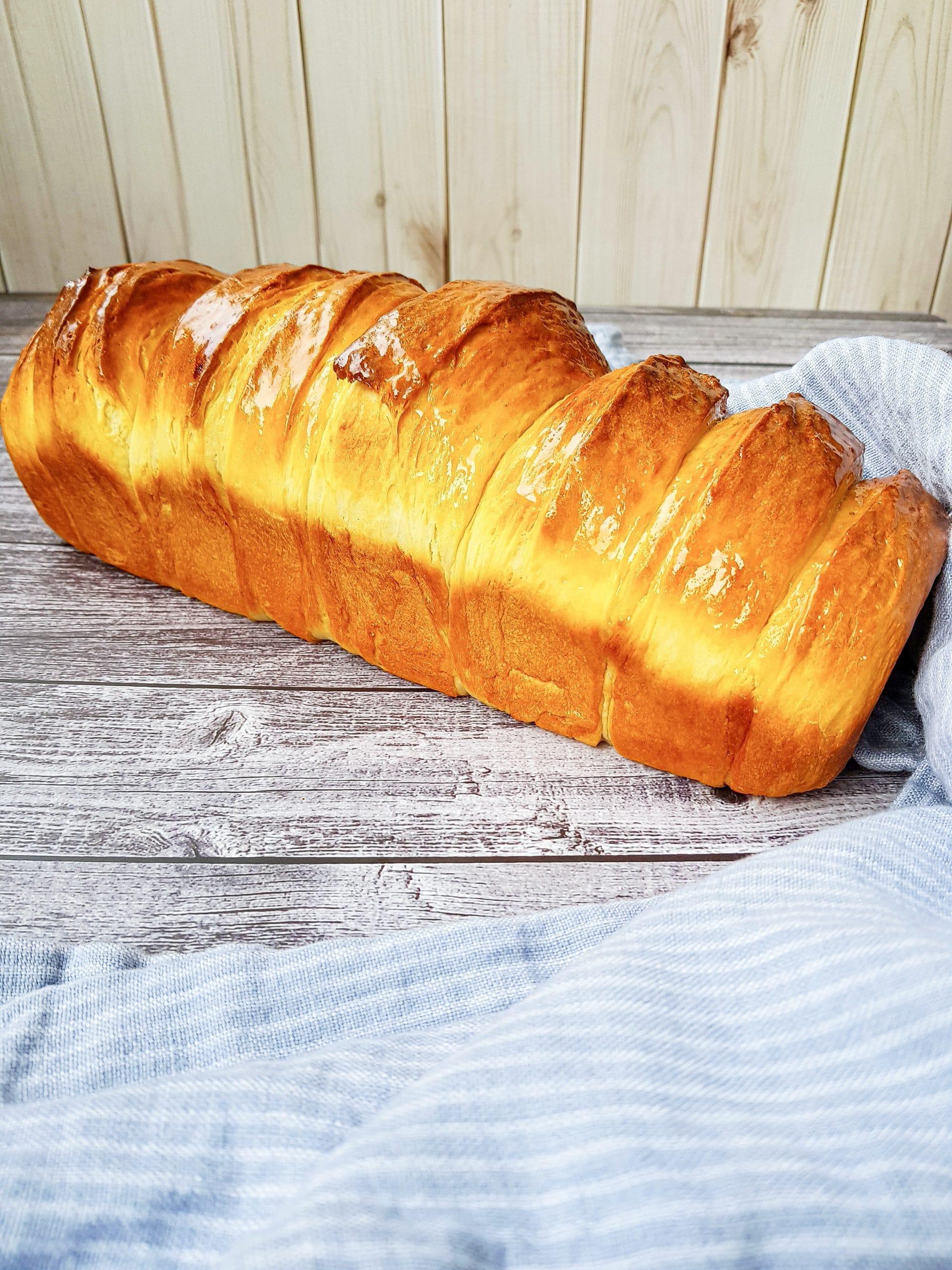 milk bread. loaf